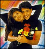 Inder Kumar and Tina Sen